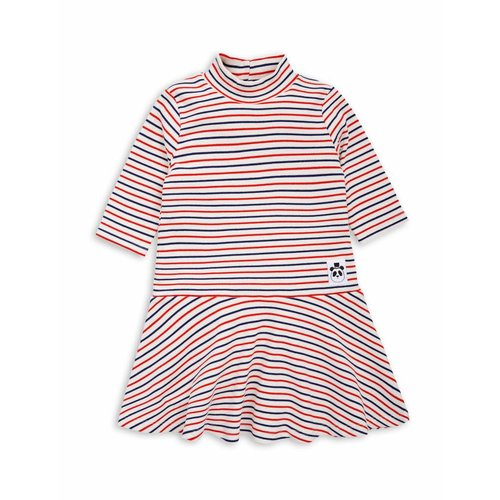 Mini Rodini Stripe rib Dance Dress offwhite jurk
