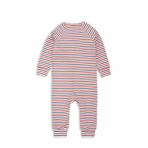 Stripe rib Jumpsuit offwhite