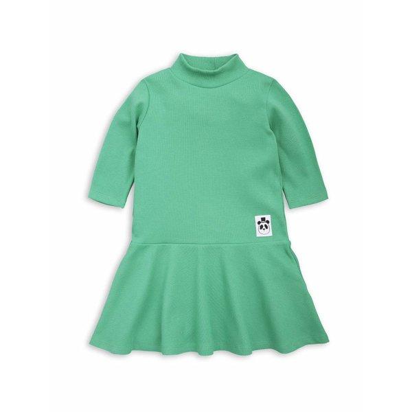 Solid rib Dance Dress jurk