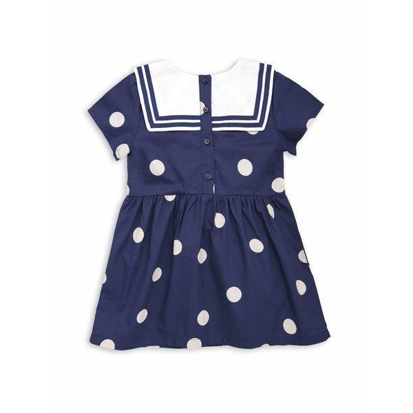 Dot woven Sailor Dress navy