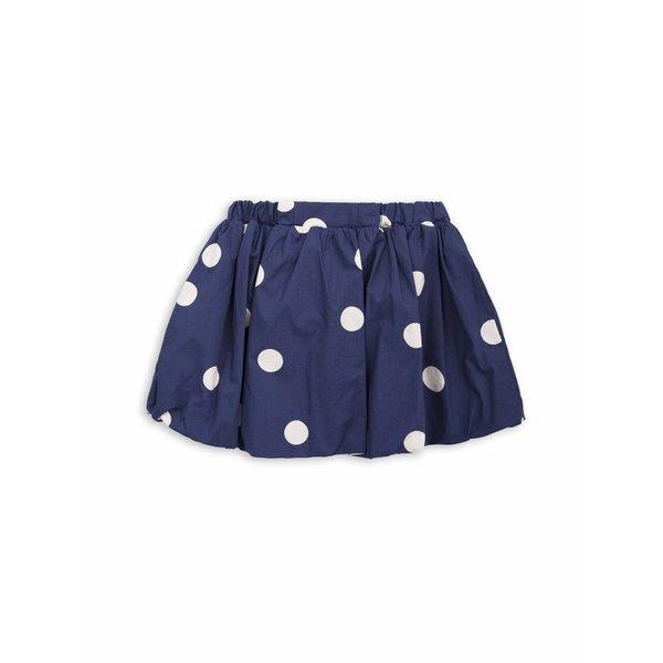Dot woven Skirt navy rok