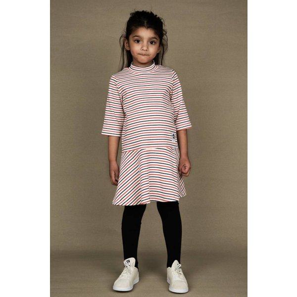 Stripe rib Dance Dress offwhite