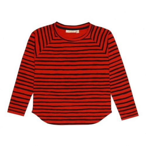 Soft Gallery Viggo T-shirt AOP Ribbon Big Flame Scarlet