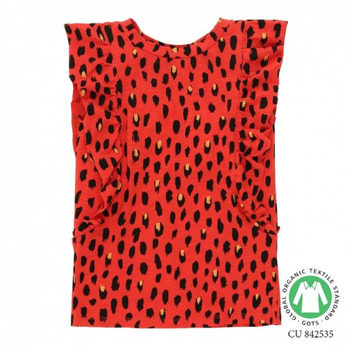 Soft Gallery Aylin T-shirt AOP Pebbles Mega Flame Scarlet