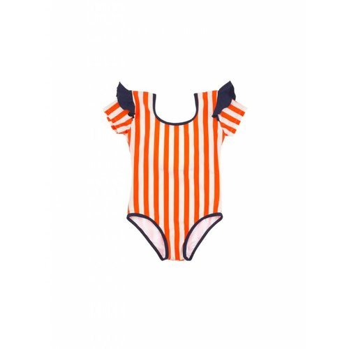 Tinycottons Stripes & Frills Swimsuit