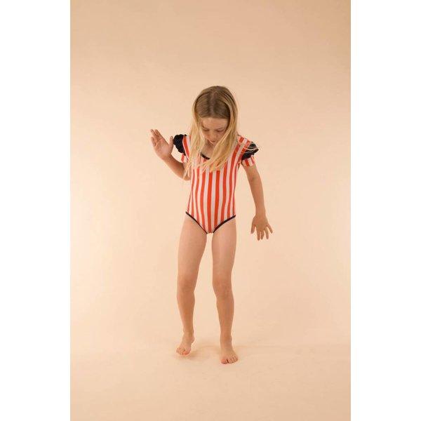 Stripes & Frills Swimsuit zwempak