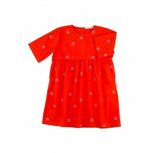 Tinycottons Club Sandwich wv Belled Dress jurk