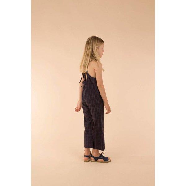 Grid wv Long onepiece jumpsuit