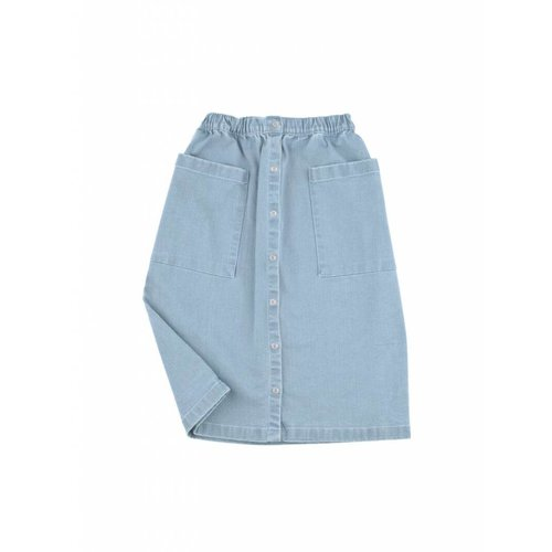Tinycottons Button Down Denim Skirt