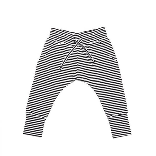 MINGO Slim Fit Jogger B/W Stripes broek