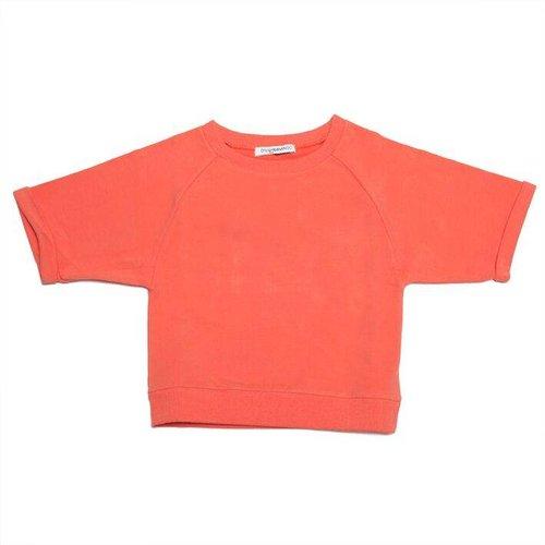 MINGO Cropped Sweater Deep Sea Coral trui