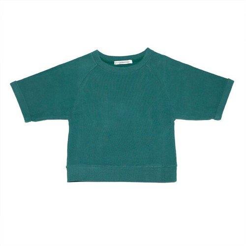 MINGO Cropped Sweater Rain Forrest Green trui