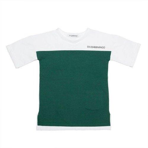 MINGO T-shirt Rain Forrest Green White
