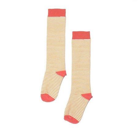 MINGO Knee socks Deep Sea Coral Striped Mari Gold kniesokken