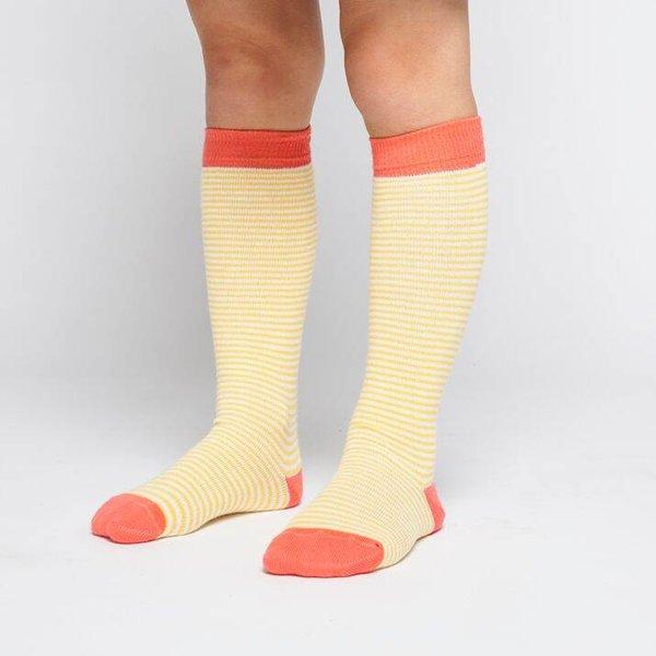 Knee socks Deep Sea Coral Striped Mari Gold kniesokken