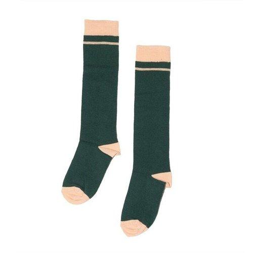 MINGO Knee socks Apricot Rain Forrest Green