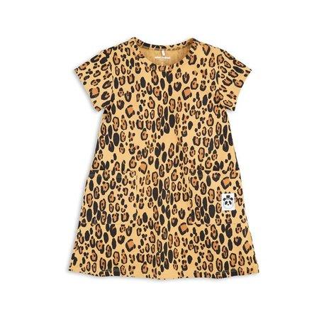 Mini Rodini Basic Leopard Dress beige jurk
