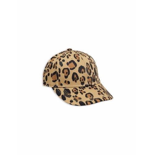 Mini Rodini Leopard CAP beige pet