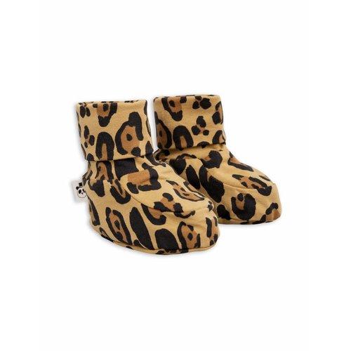Mini Rodini Basic Leopard Baby boot slofjes