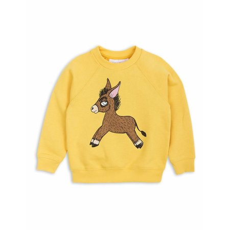 Mini Rodini Donkey SP Sweatshirt yellow trui