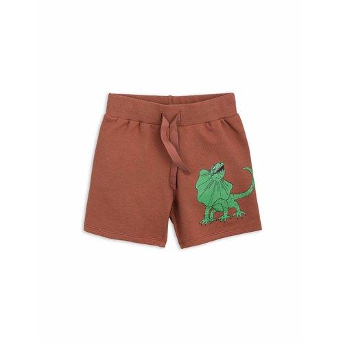 Mini Rodini Draco Sweatshorts Brown korte broek
