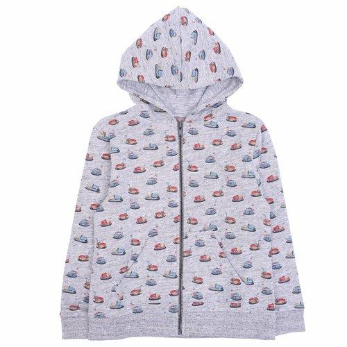 Emile et Ida Zipped Sweatshirt Gris Chine Autotamp