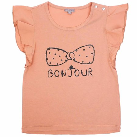 Emile et Ida Tee Shirt Sable Bonjour