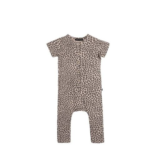 House of Jamie Laid Back Jumpsuit Caramel Leopard