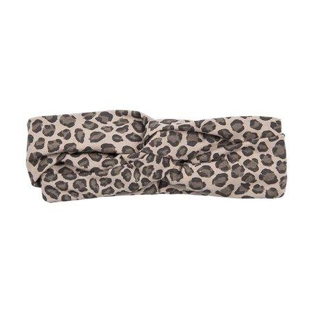 House of Jamie Turban Headband Caramel Leopard