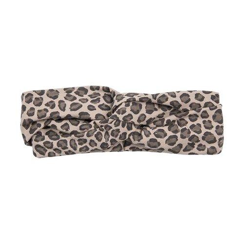 House of Jamie Turban Headband Caramel Leopard haarband