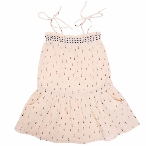 Emile et Ida Dress Beige Floral