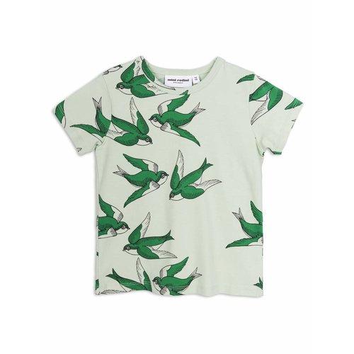 Mini Rodini Swallows SS Tee Green shirt
