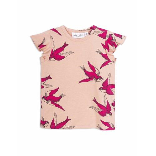 Mini Rodini Swallows Wing Tee Pink shirt