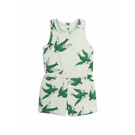 Mini Rodini Swallows Summersuit Green jumpsuit