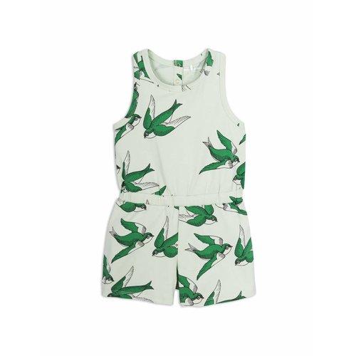 Mini Rodini Swallows Summersuit Green