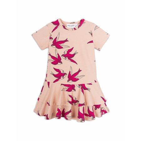 Mini Rodini Swallows Frill Dress Pink jurk