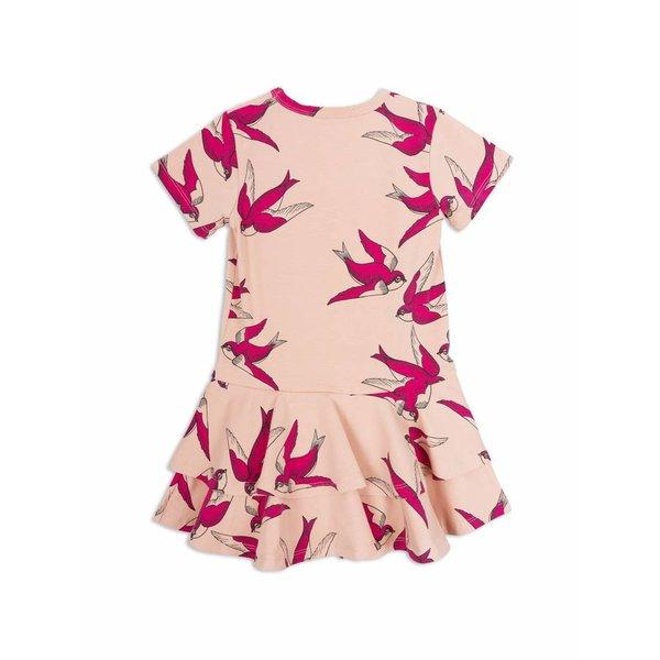 Swallows Frill Dress Pink jurk