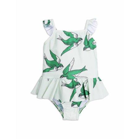 Mini Rodini Swallows Skirt Swimsuit Green badpak