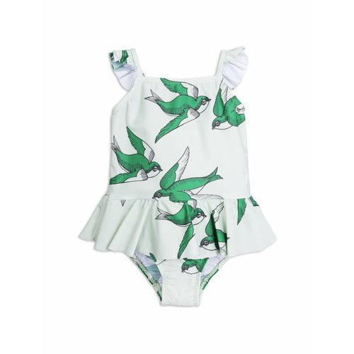Mini Rodini Swallows Skirt Swimsuit Green