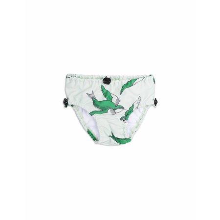 Mini Rodini Swallows Baby Swimpants Green