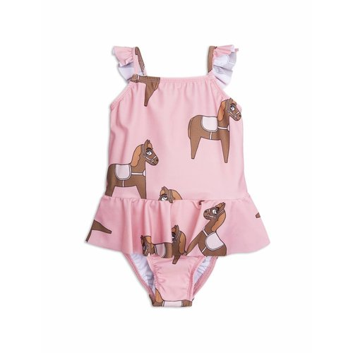 Mini Rodini Horse Skirt Swimsuit Pink badpak