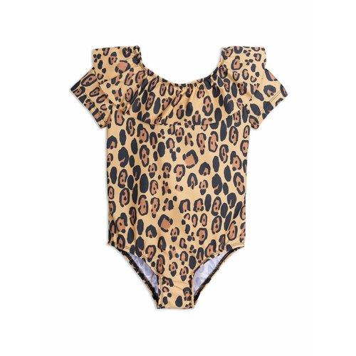 Mini Rodini Leopard SS Swimsuit Beige badpak