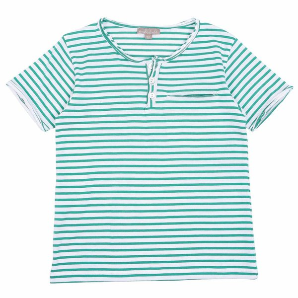 Tee Shirt Vert Blanc