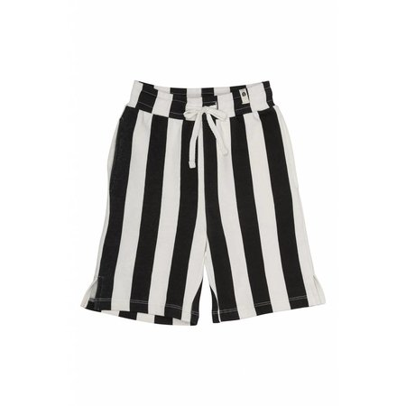 Popupshop Sweat Shorts Stripe Black/Off white