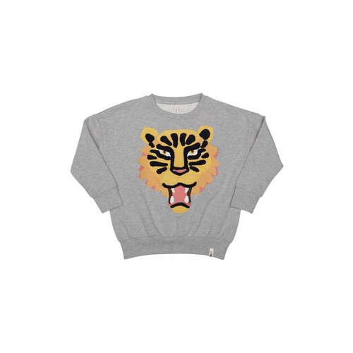Popupshop Loose Sweat Tiger EMB