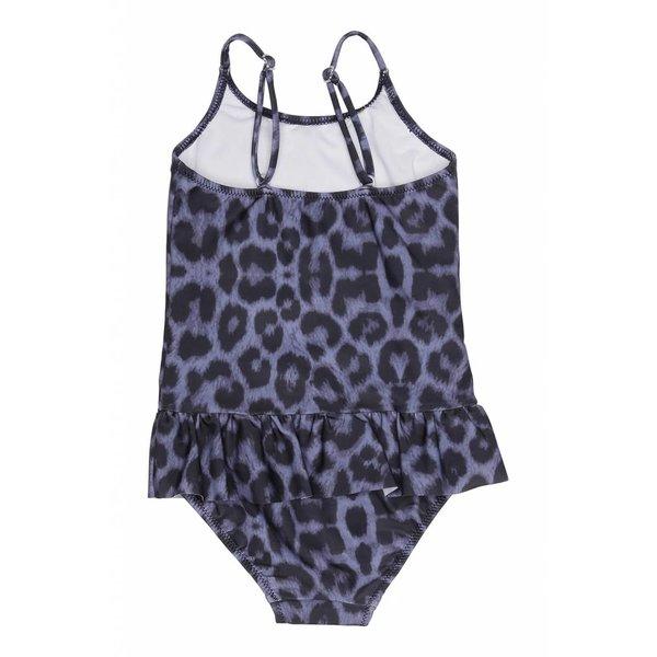 Ruffles Swimsuit Blue Leo
