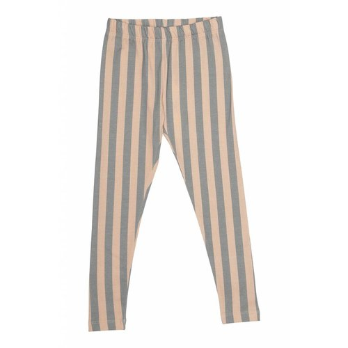 Popupshop Leggings Stripe Peach/Green