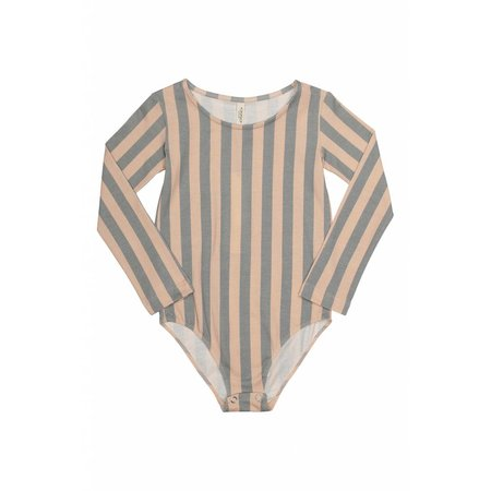 Popupshop Gym Suit Stripe Peach/Green
