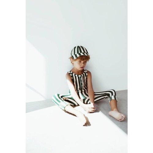 Hugo Loves Tiki Long Leg Terry Romper Beverly Hills Stripe