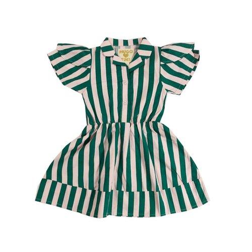Hugo Loves Tiki Petal Sleeve Dress Beverly Hills Stripe